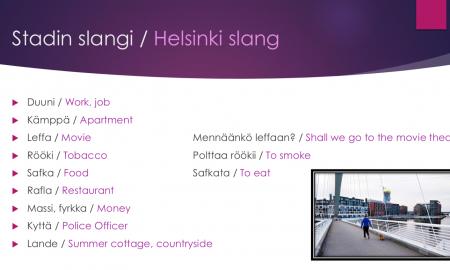 Suomi sujuu miniopas stadin slangi helsinki slang